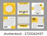 set of editable minimal square...   Shutterstock .eps vector #1723262437