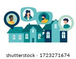 vector illustration  people on... | Shutterstock .eps vector #1723271674