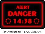 sci fi danger alert sign screen ...