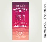 invitation valentine's day... | Shutterstock .eps vector #172328804
