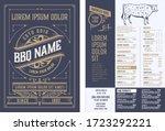 retro template for  restaurant...   Shutterstock .eps vector #1723292221