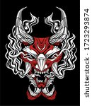 oni demon mask japanese... | Shutterstock .eps vector #1723293874
