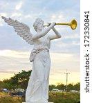 Sculpture Of Angel Blowing...