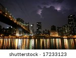 New York. Night View Of The...