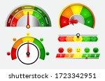 set of score indicators or... | Shutterstock .eps vector #1723342951