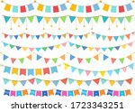 a lot of cute colorful garland | Shutterstock .eps vector #1723343251