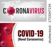 stop coronavirus posters big set   Shutterstock . vector #1723347154