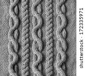 handmade grey knitting wool... | Shutterstock . vector #172335971