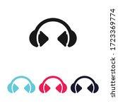 headphone icon vector ...