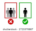 maintain social distancing and... | Shutterstock .eps vector #1723370887