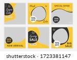 set of editable minimal square... | Shutterstock .eps vector #1723381147