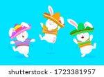 mexican rabbit character set in ...   Shutterstock .eps vector #1723381957