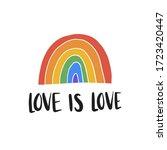 love is love hand drawn...   Shutterstock .eps vector #1723420447