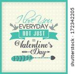 valentine's day greeting card | Shutterstock .eps vector #172342205