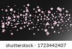 nice sakura blossom isolated... | Shutterstock .eps vector #1723442407