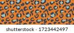 leopard skin. animal print.... | Shutterstock .eps vector #1723442497