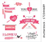 set of valentine's day design... | Shutterstock .eps vector #172344689