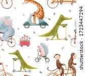 beautiful seamless pattern for... | Shutterstock . vector #1723447294