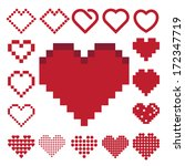 Red Heart Icon Set ....