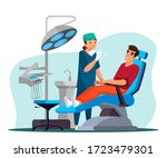 dentistry concept. woman...   Shutterstock .eps vector #1723479301