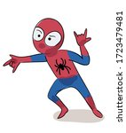 kid in carnival suit. boy... | Shutterstock .eps vector #1723479481