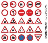 vector road   traffic signs. 3d ... | Shutterstock .eps vector #172348091
