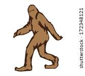 Stock vector sasquatch walking 172348121
