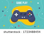 joystick concept design  game... | Shutterstock .eps vector #1723488454