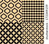 Beige And Black Geometric...