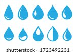 Vector Blue Water Drop Icon Se...