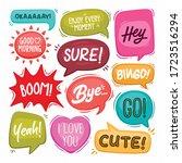 speech bubbles hand drawn...   Shutterstock .eps vector #1723516294