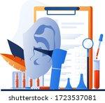 otolaryngology tools. ear... | Shutterstock .eps vector #1723537081