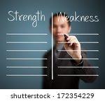 business man writing blank... | Shutterstock . vector #172354229