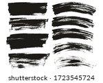 flat paint brush thin long  ... | Shutterstock .eps vector #1723545724