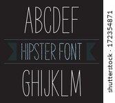 modern minimal hipster font... | Shutterstock .eps vector #172354871