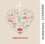 chemistry of love | Shutterstock .eps vector #172355309