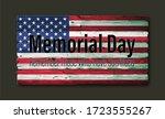 Happy Memorial Day. Vintage...
