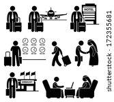 business trip businessman...   Shutterstock . vector #172355681