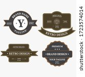 bundle set of retro vintage... | Shutterstock .eps vector #1723574014