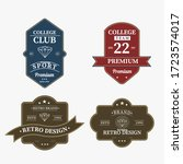 bundle set of retro vintage... | Shutterstock .eps vector #1723574017