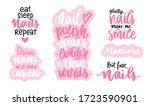 handwritten lettering set about ... | Shutterstock .eps vector #1723590901
