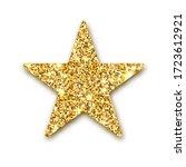 gold glitter star. golden...   Shutterstock . vector #1723612921