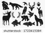 rustic nature icons   animals ... | Shutterstock .eps vector #1723615384