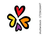 set hearts in doodle style  ... | Shutterstock .eps vector #1723616647