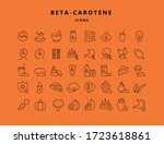 A Set Of Linear Beta Carotene...