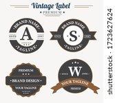 set of retro vintage badge logo ... | Shutterstock .eps vector #1723627624