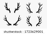 Deer Antlers Rustic Hand Drawn...