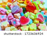 Many Colorful Lollipops With A...