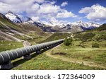 modern pipeline at a valley | Shutterstock . vector #172364009