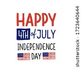 happy forth of july.... | Shutterstock .eps vector #1723640644
